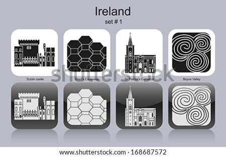 landmarks of ireland set of