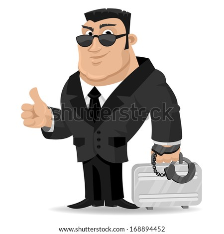 agent keeps suitcase in