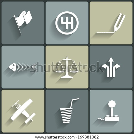 universal vector flat icons for