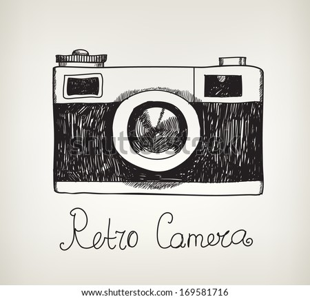 vector retro hand drawn hipster