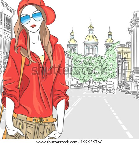 vector fashionable attractive