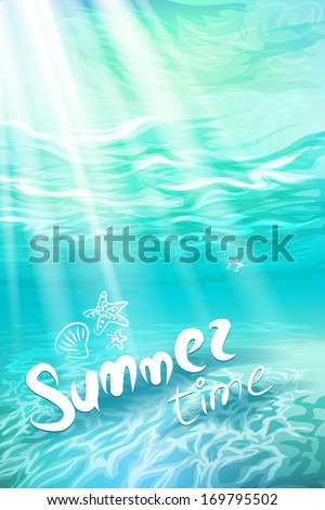 summer holidays underwater