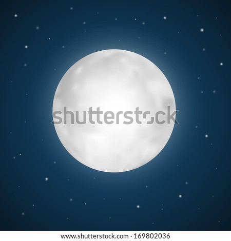 vector full moon illustration