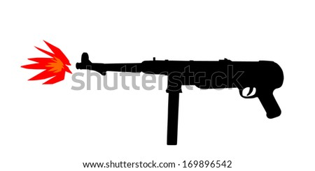 black rifle silhouette isolated