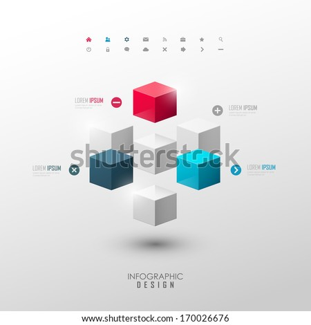 vector infographic or web