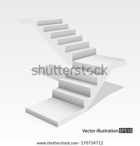 white stair