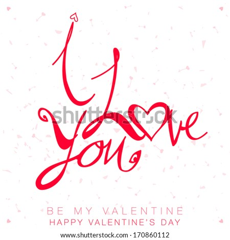 happy valentine's day card with