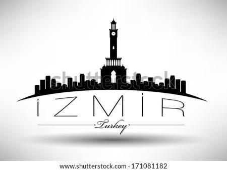 modern izmir city skyline design