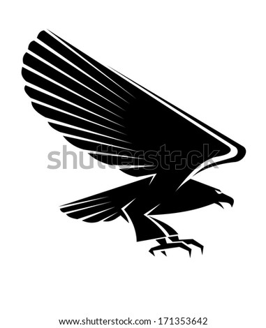 black eagle tattoo isolated on