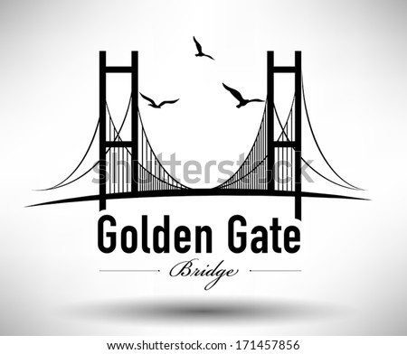 golden gate bridge typographic