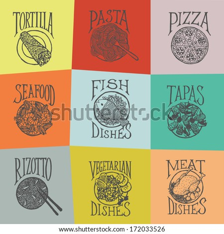 menu icon   latino style dishes