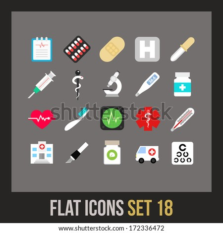 flat icons set 18   medical