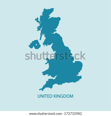 uk map vector  united kingdom