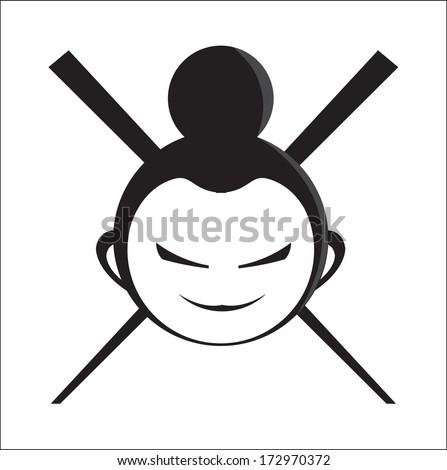 japan face  sushi logo