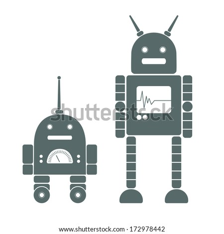 image of two robots