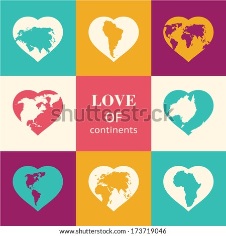 heart world   love  vector