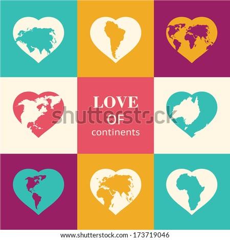 heart world   love  vector