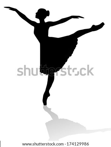 dancer silhouette on white