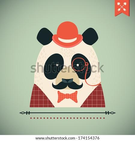 panda vector card