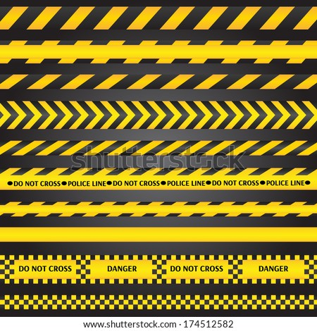 yellow with black police line