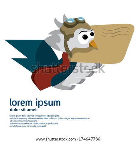 bird letter delivery   message