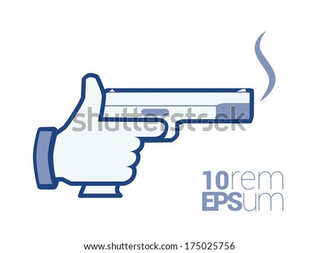 hand with smoking gun vector