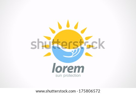 sunblock vector logo design