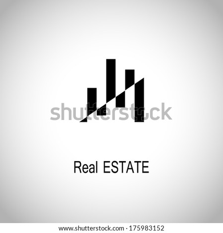 black high rise building icon