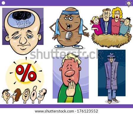 illustration set of humorous