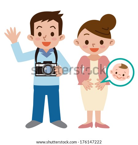 family with a camera