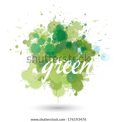 green splatter element