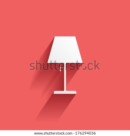 lamp  flat icon isolated on a