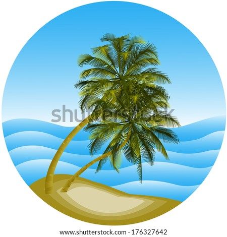 vector illustration of a sea