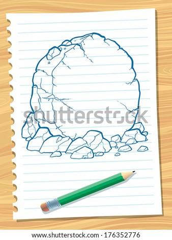 vector illustration of a stone