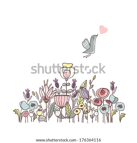 garden theme illustration with