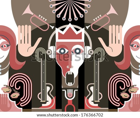 king of music   color vector