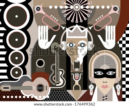 abstract music art vector