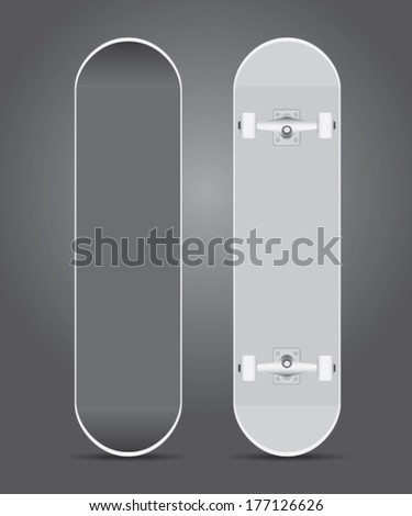 brand new skateboard vector