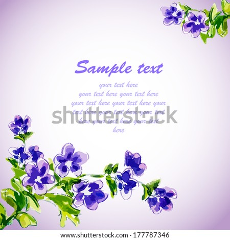 spring flowers invitation