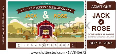 cover bridge wedding invitation
