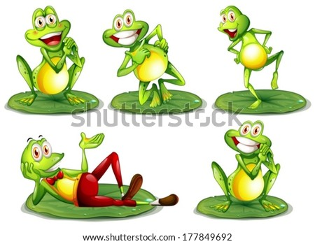 illustration of frogs in
