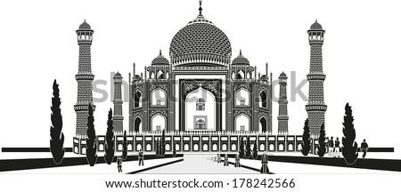 the taj mahal is a white marble