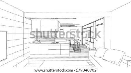 interior vector drawing
