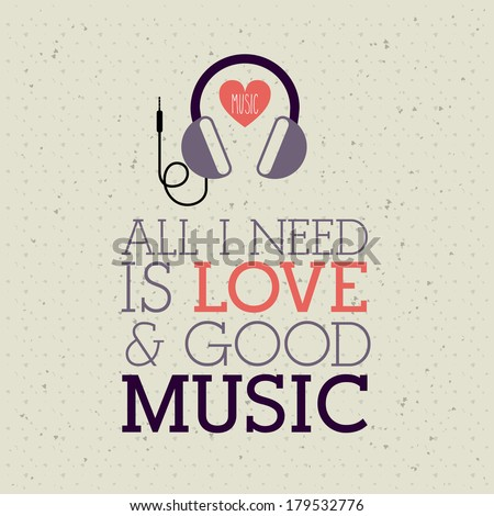 love music design over pattern