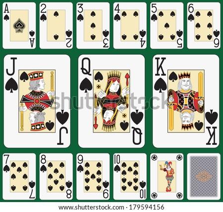 playing cards spade suit joker