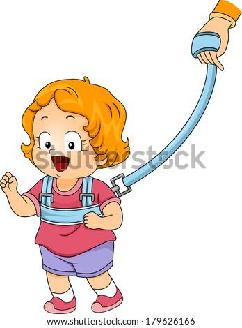 illustration of a little girl