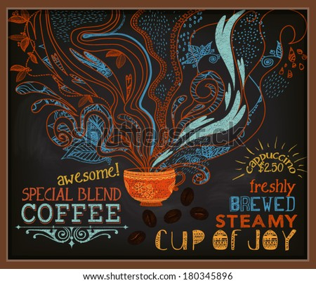 chalkboard poster for coffee