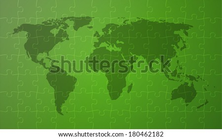 world map with continents on