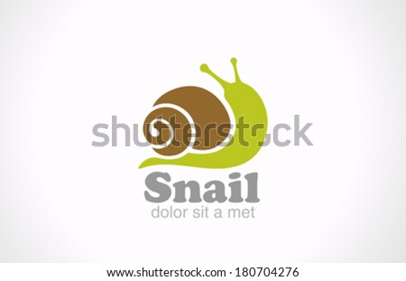 snail cartoon fun style vector