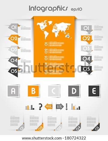 orange infographics with long